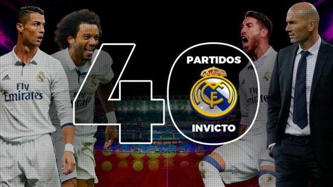ريال مدريد يصل للمباراة 40 بدون هزيمة تحت قيادة زيدان