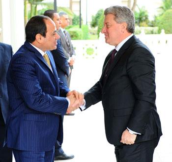 السيسى و الرئيس المقدوني جورجي إيفانوف (1)