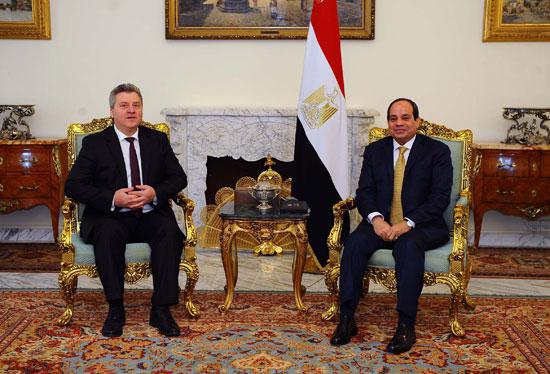 السيسى و الرئيس المقدوني جورجي إيفانوف (2)