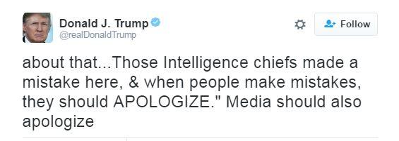 نص تدوينة ترامب حول المخابرات