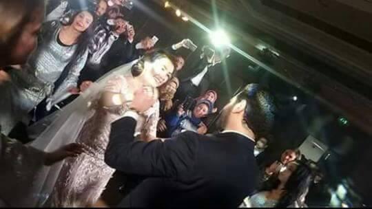 لقطة من حفل الزفاف