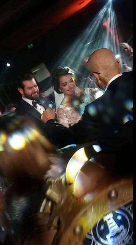 العروسان عمرو يوسف وكندة علوش