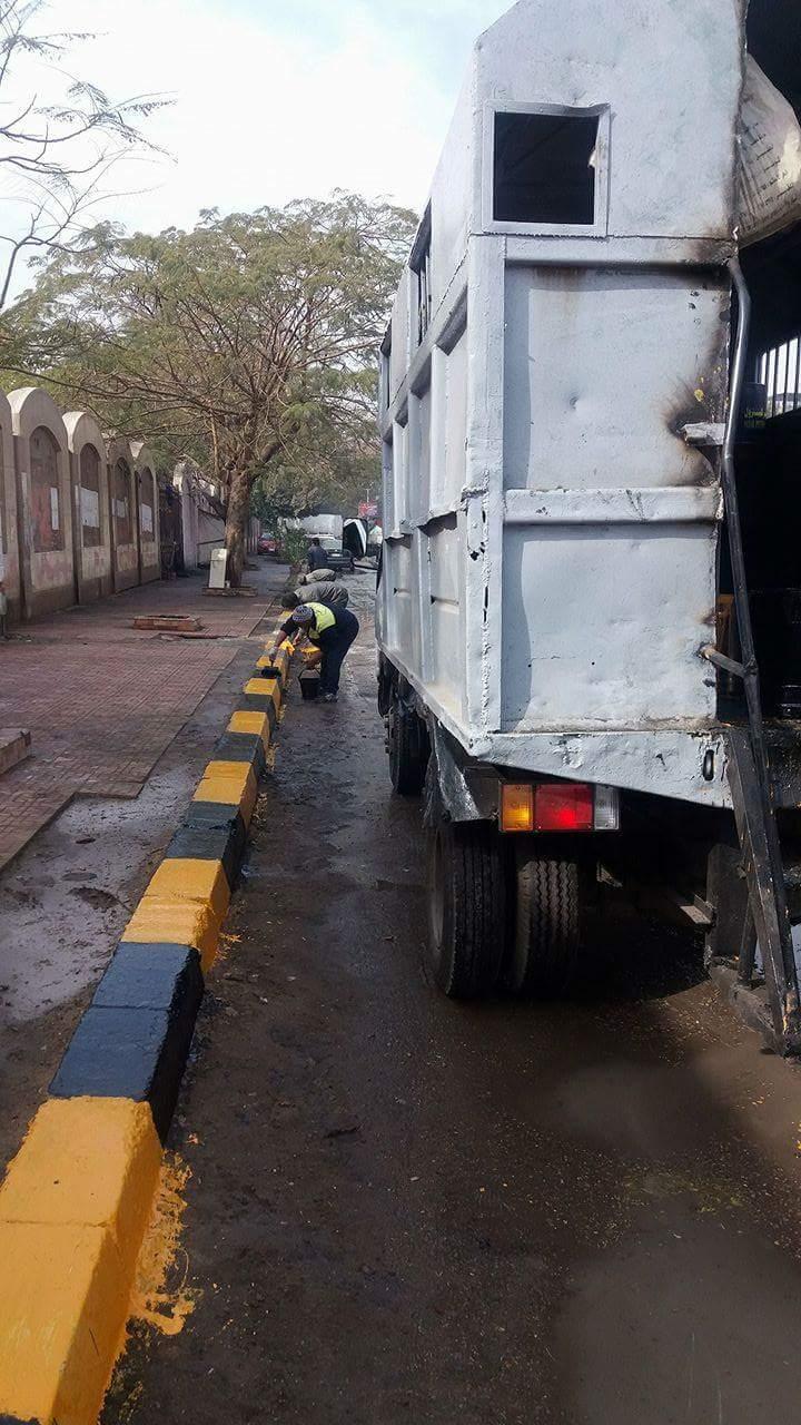 الجيزة تشن حملة نظافة بمنطقة امبابة  (2)
