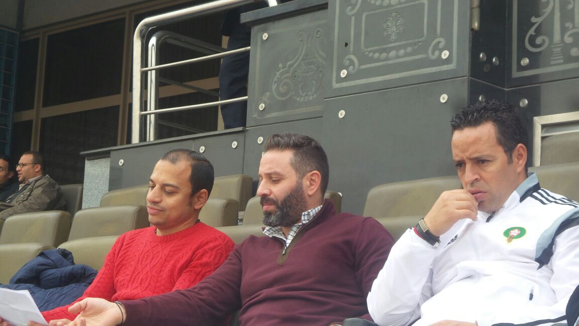 إمام يحضر ودية منتخب الشباب و المغرب