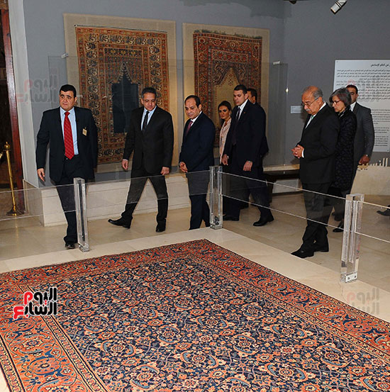 السيسى يفتتح متحف الفن الإسلامى بعد 3 سنوات من تعرضه لهجوم إرهابى (6)