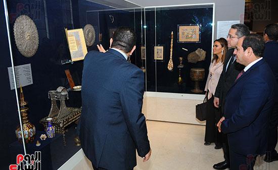 السيسى يفتتح متحف الفن الإسلامى بعد 3 سنوات من تعرضه لهجوم إرهابى (4)