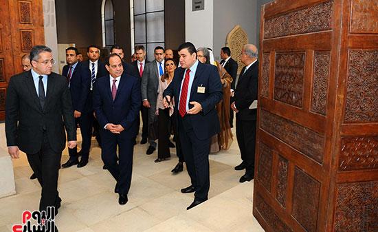 السيسى يفتتح متحف الفن الإسلامى بعد 3 سنوات من تعرضه لهجوم إرهابى (9)