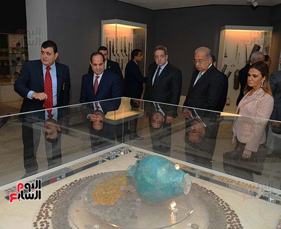 السيسى يفتتح متحف الفن الإسلامى بعد 3 سنوات من تعرضه لهجوم إرهابى (8)