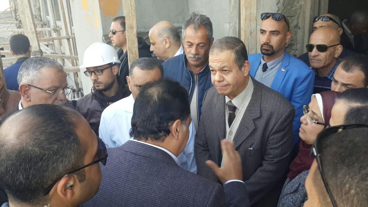 وزير الصحة ومحافظ المنيا