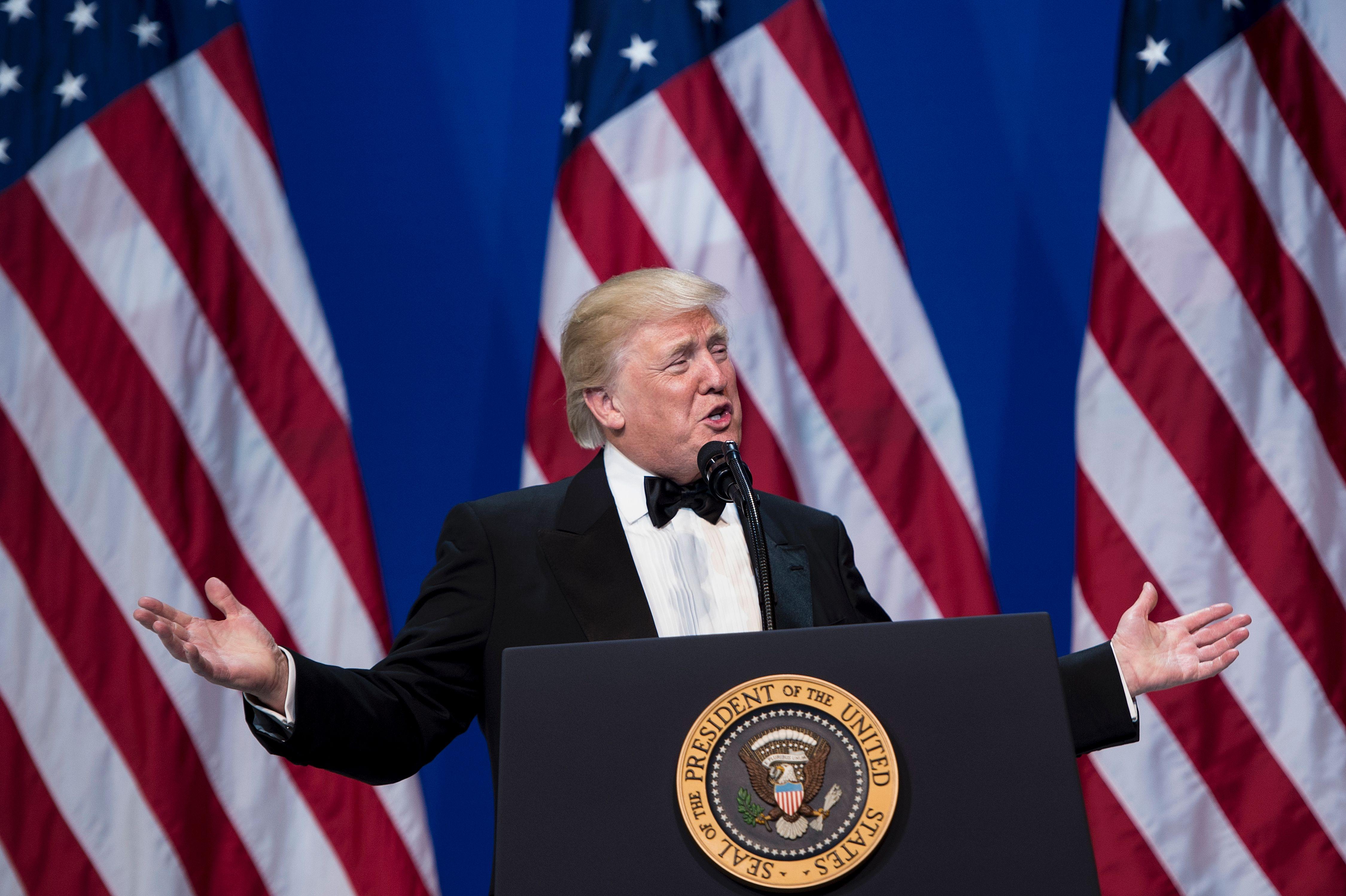 خطاب ترامب الثانى خلال الاحتفالات