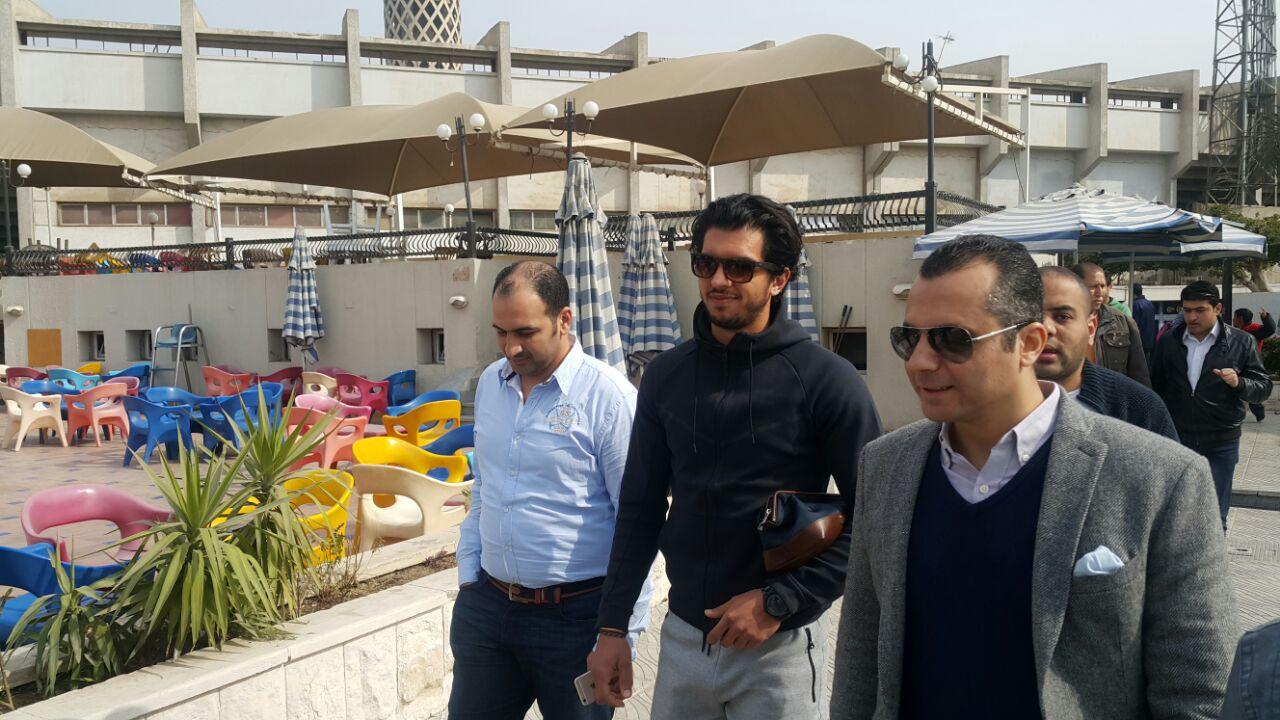 زيارة عمرو بركات بالاهلى