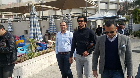 جانب من حضور عمرو باركات للنادى الأهلى