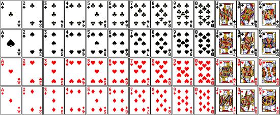 Image result for ورقة اللعب أو الكوتشينة أو الشّدة