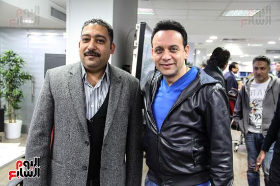 الزميل كريم عبد السلام مع مصطفى قمر