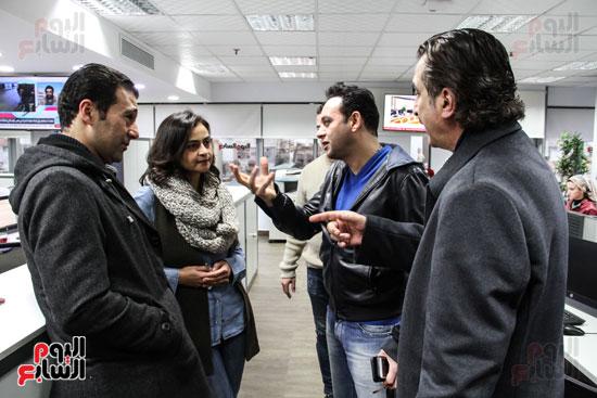 مصطفى قمر مع الزملاء علا الشافعى وعصام شلتوت وجمال عبد الناصر