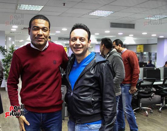 مصطفى قمر مع الزميل أحمد جمعة