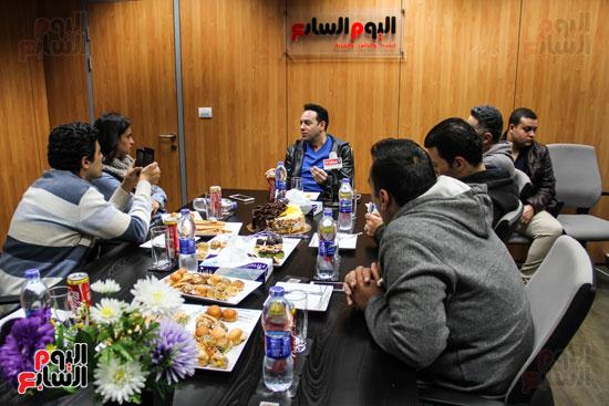 مصطفى قمر فى ندوة اليوم السابع