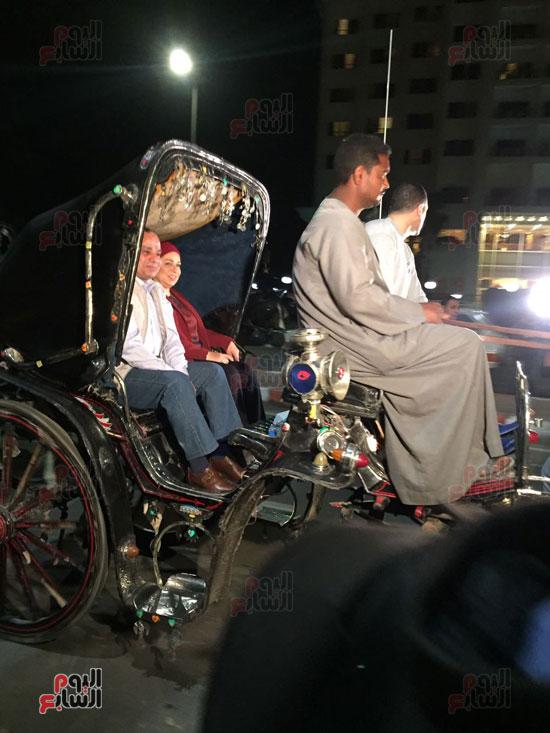 الرئيس حرص على الاستمتاع بجو المدينة السياحية