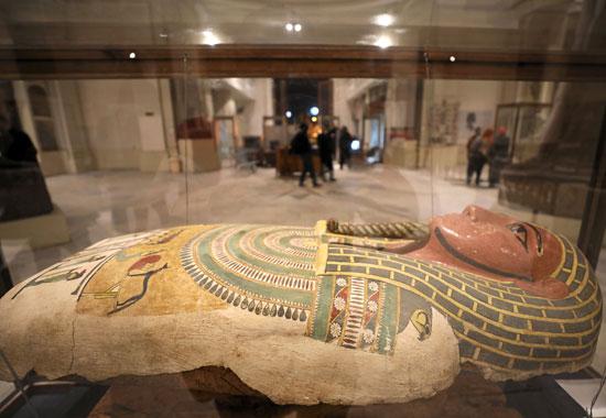 جانب من آثار المتحف المصرى التى ابرزتها رويترز