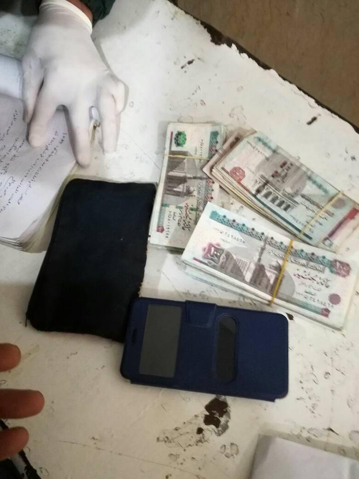 1- المبلغ المالي الذي عثر عليه طقم الإسعاف