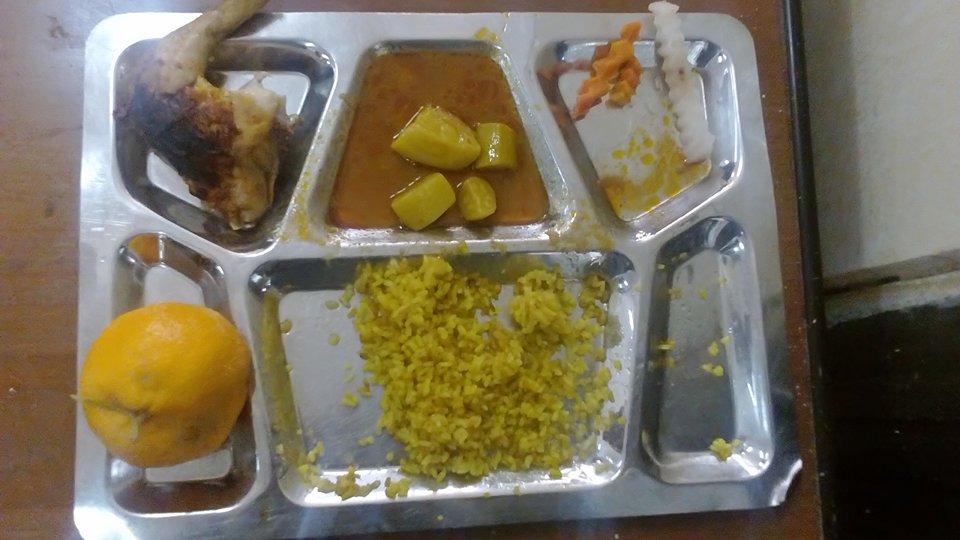 وجبة غذاء طلاب المدينة الجامعية بالفيوم