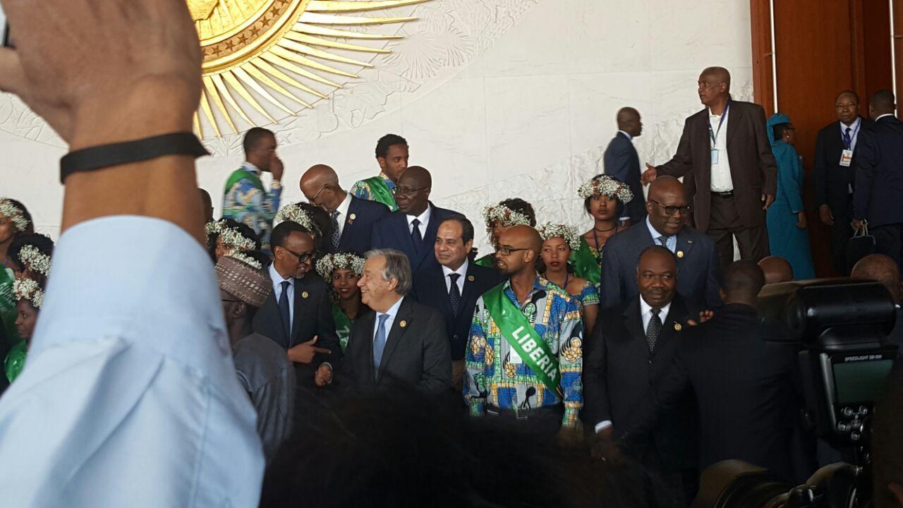 الرئيس عبد الفتاح السيسي في مقر الاتحاد الافريقي