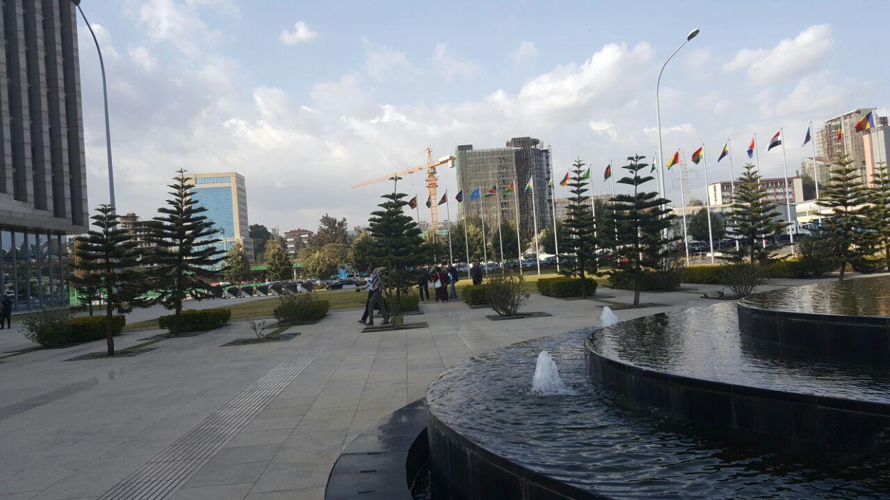 اعلام الدول المشاركة في الجلسة الافتتاحية للقمة الإفريقية