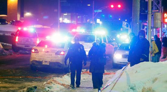 غلق طريق رئيسى أمام المسجد عقب الحادث