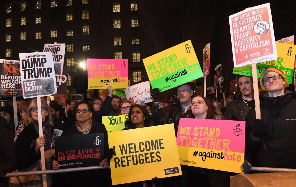 مظاهرات كبيرة رغم برودة الطقس