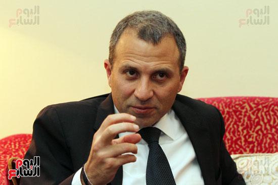 وزير الخارجية اللبنانى جبران باسيل في حوار اليوم السابع (4)