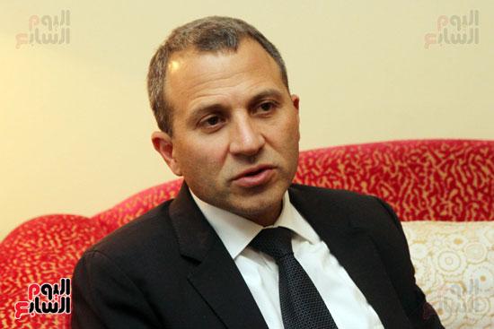 وزير الخارجية اللبنانى جبران باسيل في حوار اليوم السابع (3)
