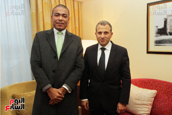 وزير الخارجية اللبنانى جبران باسيل في حوار اليوم السابع (1)