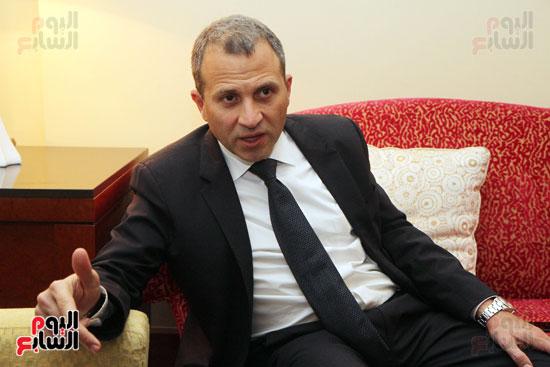 وزير الخارجية اللبنانى جبران باسيل في حوار اليوم السابع (5)