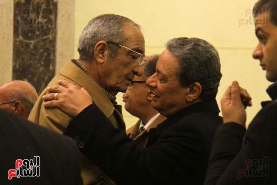 الكاتب الصحفى كرم جبر و زكريا عزمى خلال العزاء