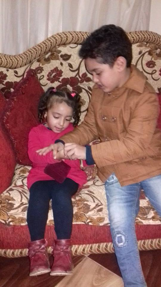 خطوبة أصغر عروسين فى طنط الجزيرة بالقليوبية والشبكة 18 ألف جنيهًا