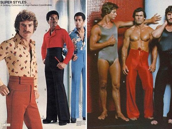 السراويل الضيقة موضة الرجال فى السبعينيات