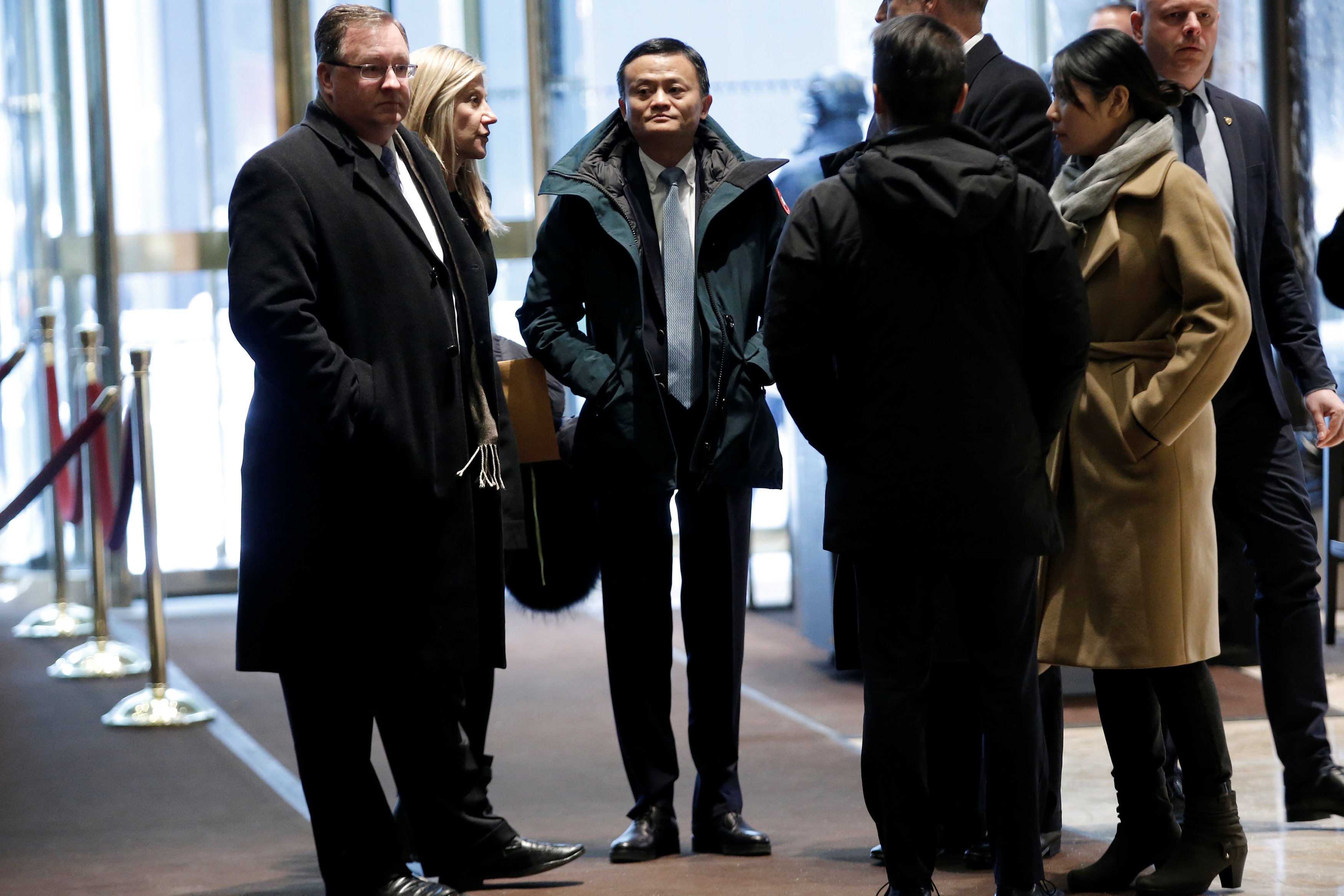جاك ما الرئيس التنفيذى لشركة على بابا الصينية قبل لقائه ترامب