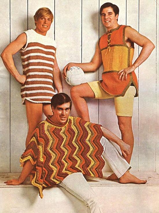 تصميمات غريبة لموضة السبعينيات الرجالية