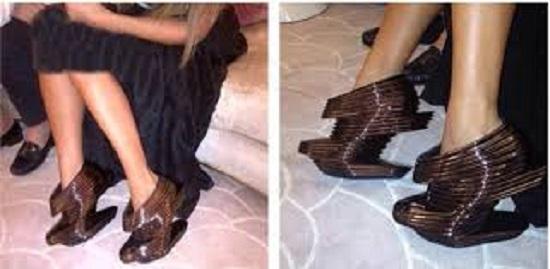حذاء مايا دياب الغريب