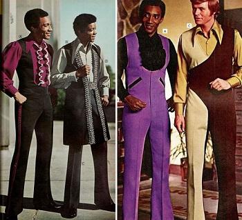 الألوان الغريبة والتصميمات المختلفة عنوان موضة السبعينيات
