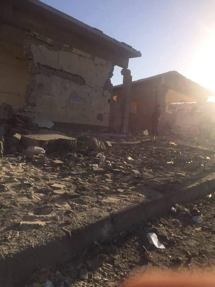 تضرر المنازل من قوة الانفجار (4)