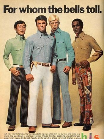 السراويل الغريبة موضة السبعينيات