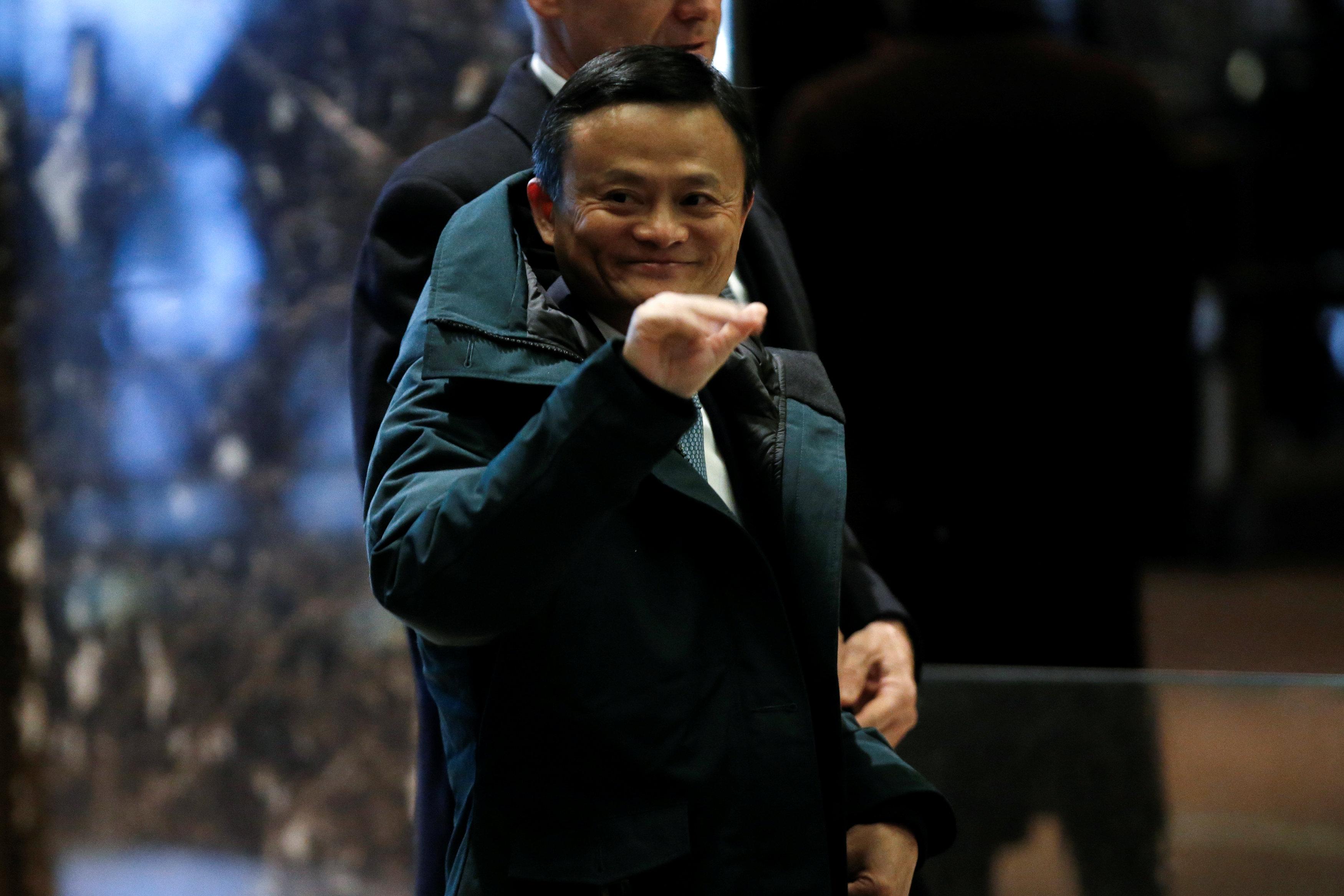 جاك ما الرئيس التنفيذى لشركة على بابا الصينية يصل برج ترامب فى نيويورك