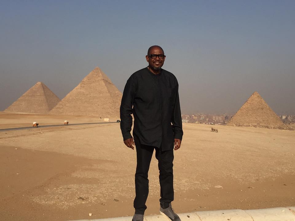 ويتكر أمام الأهرامات