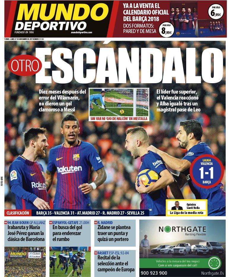 غلاف صحيفة موندو ديبورتيفو الاسبانية