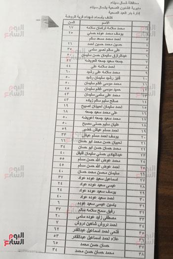 قائمة رسمية بأسماء شهداء حادث مسجد الروضة (1)