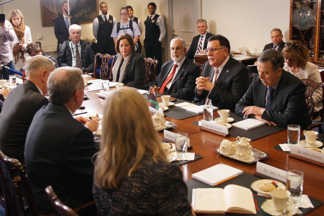 اجتماع الوفد الليبى مع الوفد الأمريكى