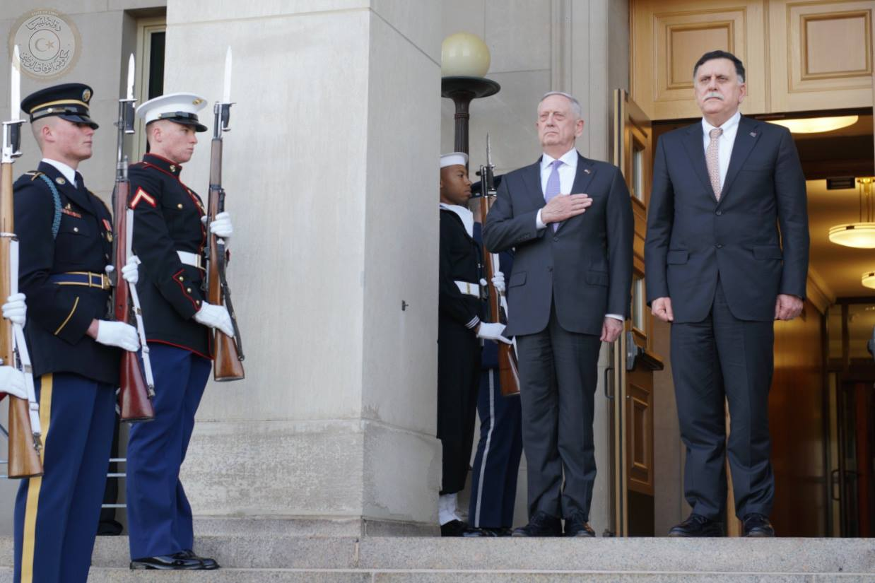 فائز السراج ووزير الدفاع الأمريكى