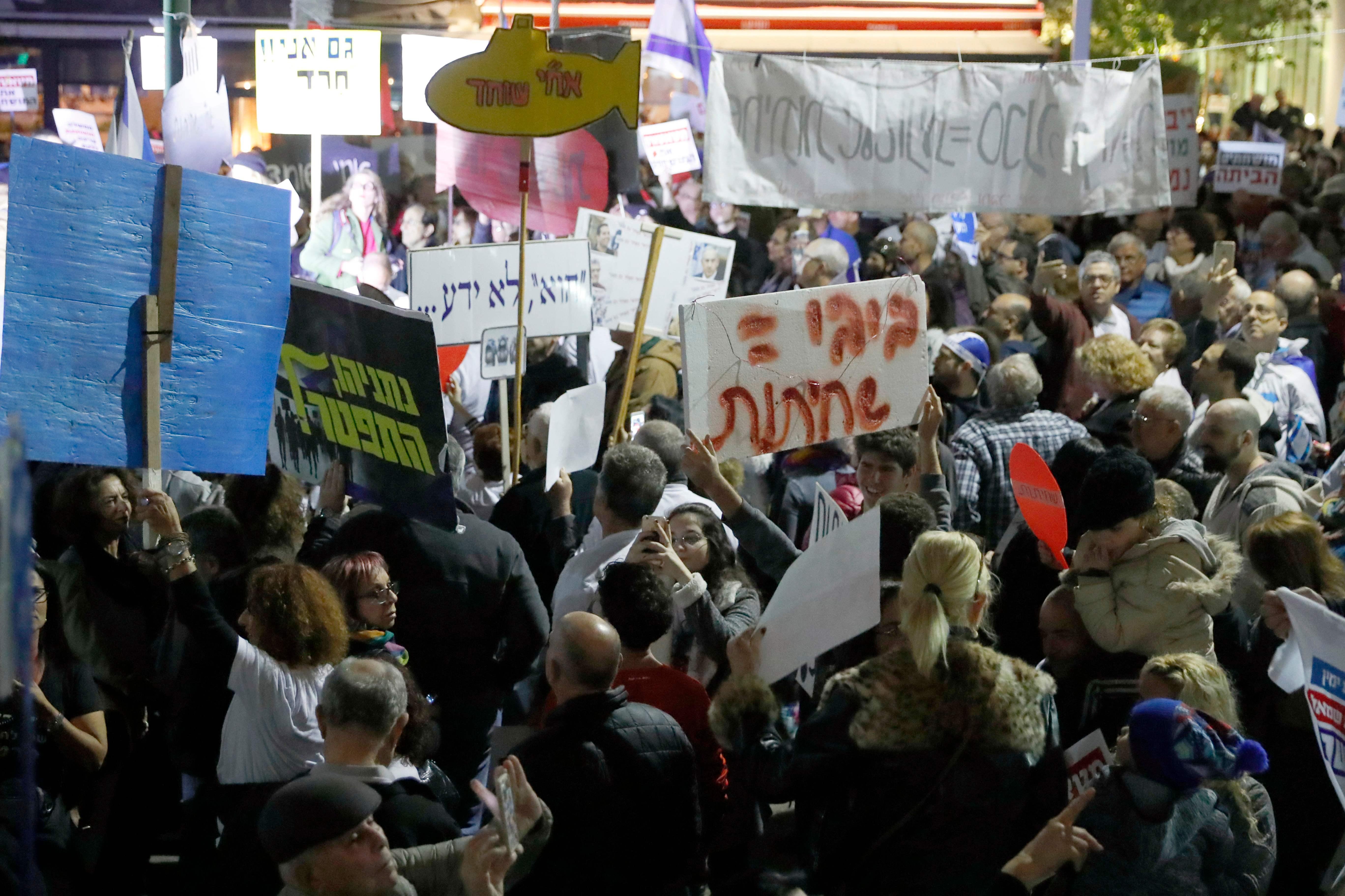 آلاف الاسرائيليين يتظاهرون فى تل أبيب