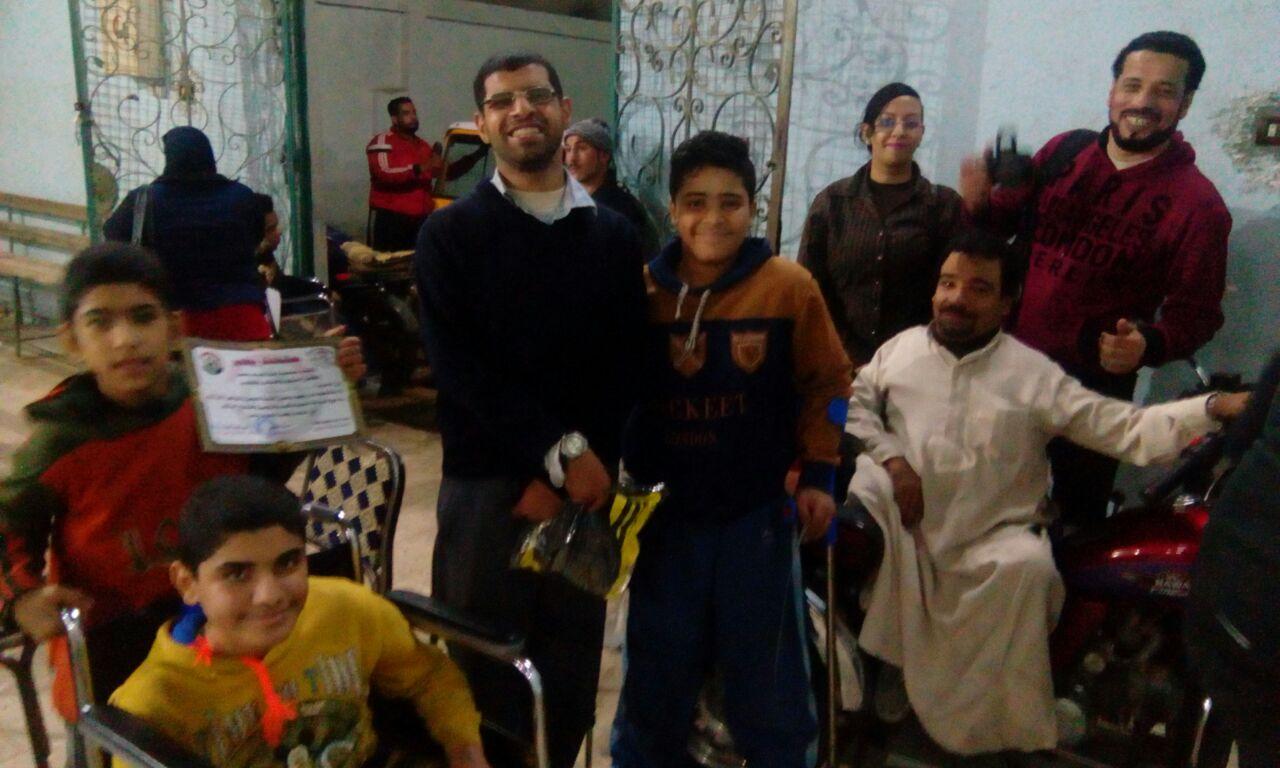 تكريم أبطال متحدي الإعاقة للكرة الطائرة جلوس بمركز شباب قليوب (3)